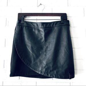 RUDSAK mixed media leather mini skirt